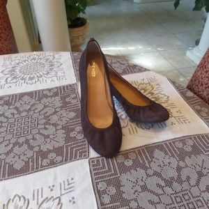 Nine West Brown Suede Leather Ballet Flats Size 8M